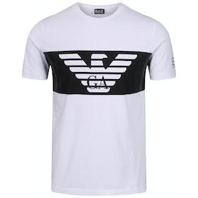 T-Shirt a Manica Corta EA7 Cotton Stretch - White