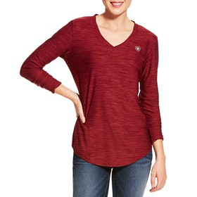 Ariat Laguna Long Sleeve Ladies Top - Cabernet