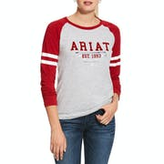 Ariat Logo Flock 長袖 T シャツ