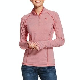 Ariat Lowell 2.0 Quarter Zip Ladies Top - Geo Autumn Red