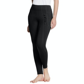 Ariat Attain Thermal Knee Patch Ladies Riding Tights - Black