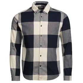 Barbour International Large Gingham Shirt - Black
