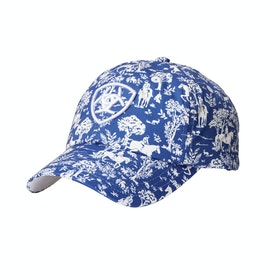 Ariat Cotton Print Cap - Navy Toile
