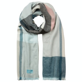 Joules Berkley Ladies Scarf - Light Blue Check
