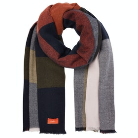 Joules Berkley Ladies Scarf - Navy Check