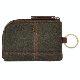 Joules Everleigh Tweed Ladies Purse - Dark Green Grid