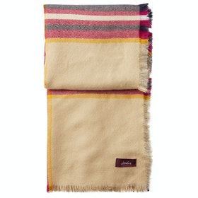 Joules Heyford Ladies Scarf - Cream Navy Check