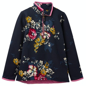 Joules Fairdale Half Zip Girls Sweater - Anniversary Floral