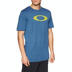 Oakley O-bold Ellipse Short Sleeve T-Shirt - Electric Shade Heather