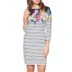 Joules Riviera Short Sleeve Jersey Print Dress - Anniversary Border Floral