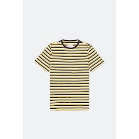 Albam Fletcher Stripe 1160 S S T-Shirt - Port Jojoba Ecru
