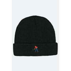 Pass-Port Full Time Embroidery Beanie - Black