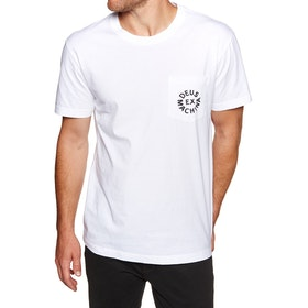 Deus Ex Machina Logo , Kortärmad T-shirt - White