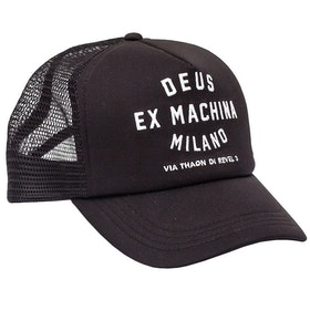 Шапка Deus Ex Machina Milano Address Trucker - Black