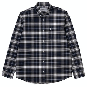 Carhartt Linville シャツ - Check Blue Wax