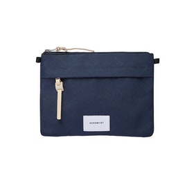 Sandqvist Ludvig Bag - Navy With Natural Leather
