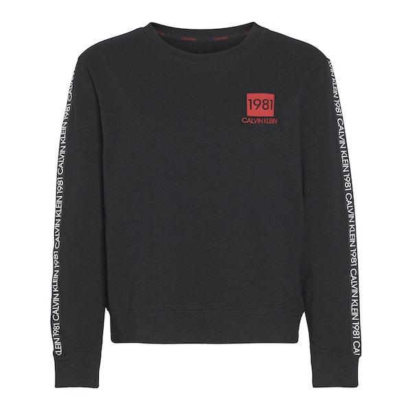 Calvin Klein 1981 Bold Lounge Sweatshirt Women's Loungewear Tops
