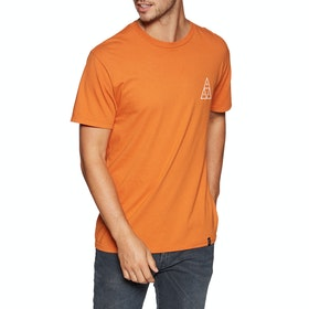 Huf Essentials Triple Triangle , Kortärmad T-shirt - Rust