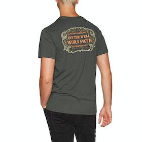Rhythm Grassland Short Sleeve T-Shirt - Charcoal