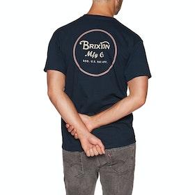 Brixton Wheeler Ii Short Sleeve T-Shirt - Navy/orange