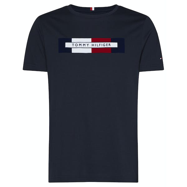 Tommy Hilfiger Box Rwb Logo Short Sleeve T-Shirt
