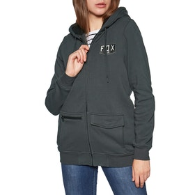 Fox Racing Lit Up Sherpa Fleece Womens Zip Hoody - Vintage Black