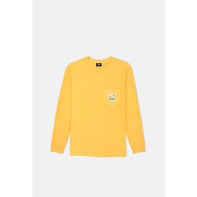 Stussy Sierra Pig Dyed Pocket L S T-Shirt - Mustard