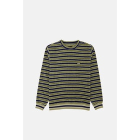 Maglione Stussy Striped Polar Fleece Crew - Olive