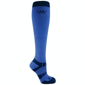 Riding Socks Woof Wear Bamboo Long - Electric Blue Navy
