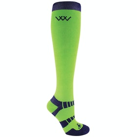 Riding Socks Woof Wear Bamboo Long - Lime Navy