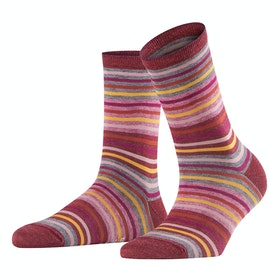 Falke Profile Stripe Women's Socks - Bordeaux
