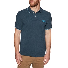 Chemise Polo Superdry Poolside Pique - Carbon Blue Twist
