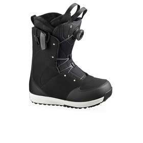 Salomon Ivy Boa Str8ght Jacket Womens Snowboard Boots - Black/pale Lime