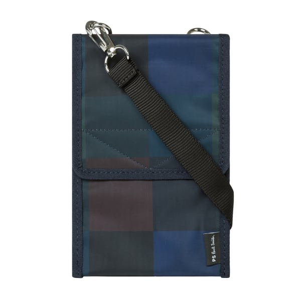 Paul Smith Check Nylon Pouch Wallet