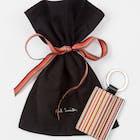 Paul Smith Leather Signature Stripe Keyring