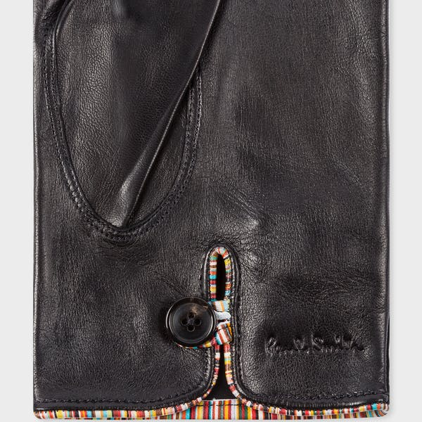 Paul Smith Piping Striped Gloves