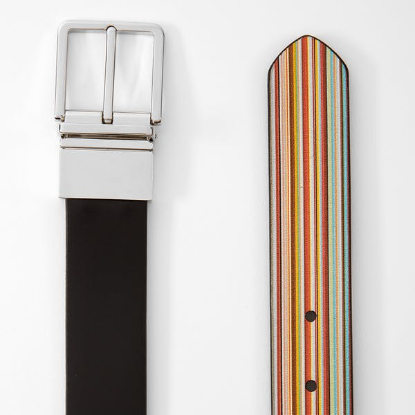 Ceinture en Cuir Paul Smith Reversible Cut-To-Fit Signature Stripe