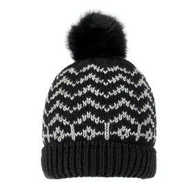 Dents Zig Zag Hat - Black Dove Grey