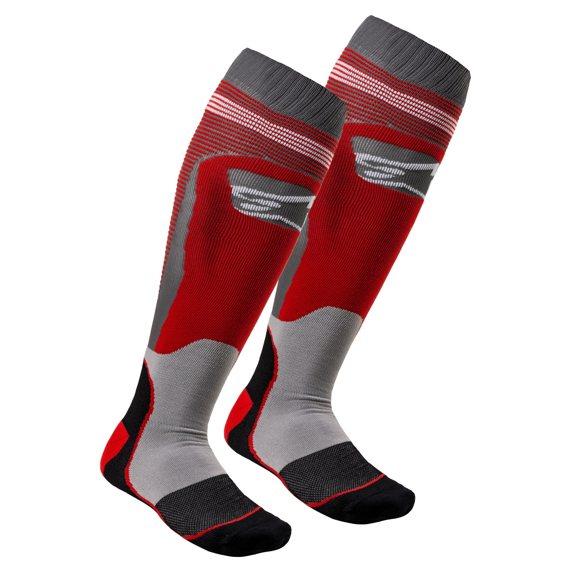 Alpinestars MX Plus-2 MX Boot Socks Small Red White