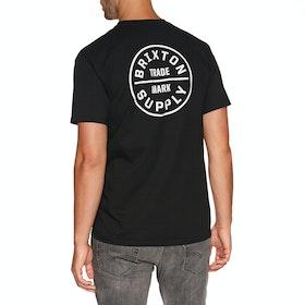 Brixton Oath Standard Short Sleeve T-Shirt - Black
