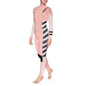 Hurley Advantage Plus 3/2mm Chest Zip Womens Wetsuit - Pink Tint