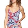 Seafolly Bandana Bay Tie Front Singlet Womens Tankini Top - Chilli