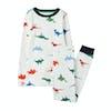 Joules Kipwell Top And Bottoms Boys Pyjamas - White Dino