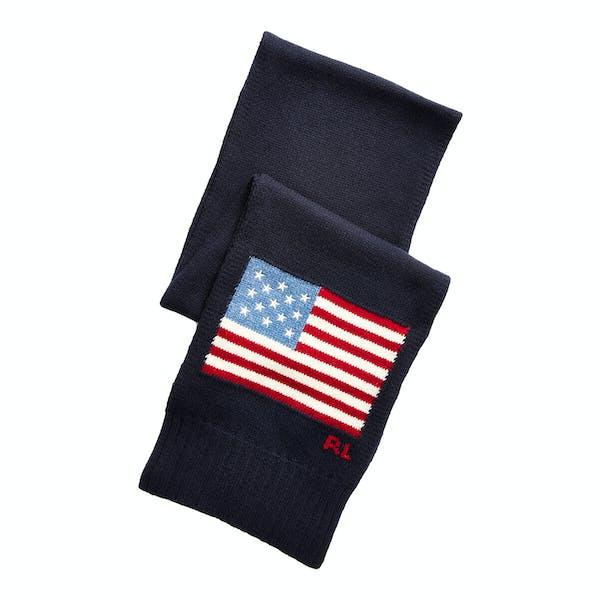 Ralph Lauren Flag Merino Wool-Blend Scarf