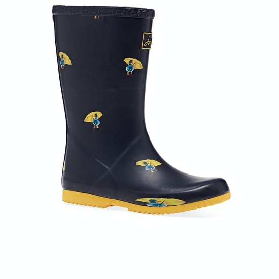Joules Jnr Roll Up Girls Wellies