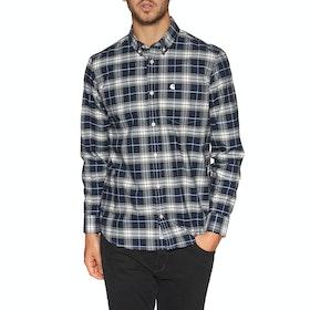 Carhartt Linville Shirt - Check Blue Wax