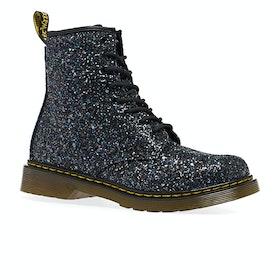 Dr Martens 1460 Glitter Kids Boots - Oily Black Chunky Glitter
