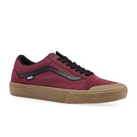 Vans Old Skool Pro Bmx Shoes - Ty Morrow Biking Red Gum