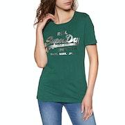 Superdry V Logo Metalwork Womens Short Sleeve T-Shirt