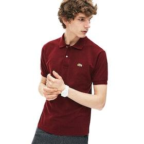 Lacoste Short Sleeve Herren Polo-Shirt - Vine Chine